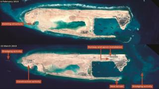 South China Sea: US warship sails near disputed reef