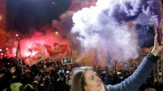 Протестующие в Будапеште