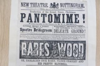 A poster for Babes in the Wood