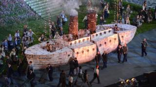 The Windrush was recreated during the opening ceremony of the London 2012 Olympic Games