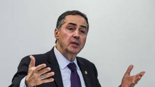 Luís Roberto Barroso em coletiva de imprensa em agosto deste ano