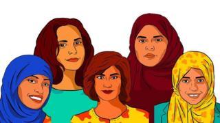 صورة نشرتها منظمة العفو الدولية على صفحتها في تويتر للناشطات السعوديات