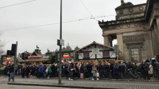 Crowds at Christmas market