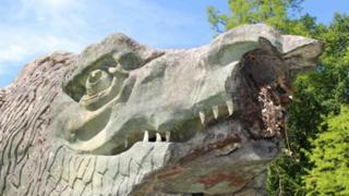 science Damaged Megalosaur sculpture