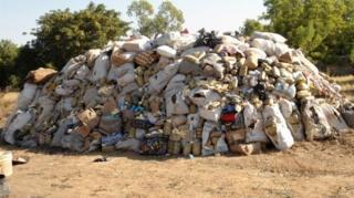 Burning of illegal drugs for Nigeria, 2013