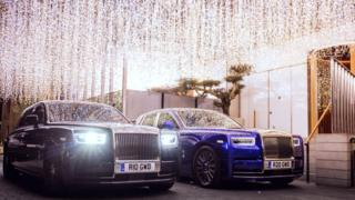 Two Rolls-Royce Phantoms