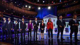 نخستین مناظره نامزدهای دموکرات انتخابات آمریکا
