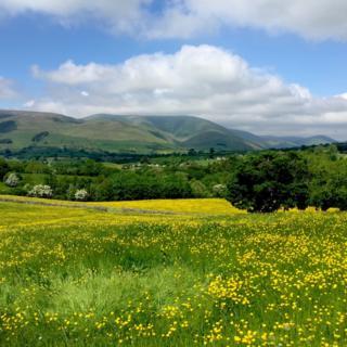 The Howgill Fells in Cumbria