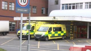 Ambulances outside Medway Maritime Hospital