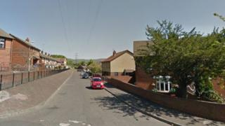 Houses were evacuated following the search operation in Moyard Crescent