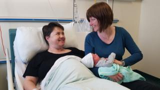 Ruth Davidson with son and Jen Wilson