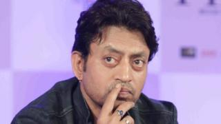 Indian Bollywood actor Irrfan Khan poses during a promotional event ahead of the forthcoming Hindi film Piku in Mumbai late April 28, 201