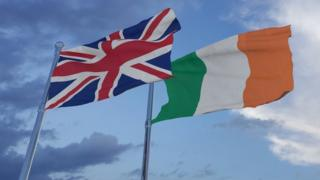 UK and Irish flags