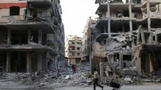 Yakin da ake tsakanin 'yan tawaye da dakarun gwamnatin Syria, ya lalata garin Ghouta