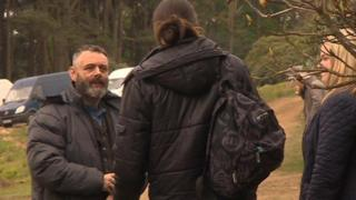 Michael Sheen on location