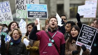 Protesting junior doctors