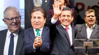 Pedro Pablo Kuczynski, Alejandro Toledo, Ollanta Humala y Alan García, expresidentes de Perú