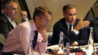 Bank of England chief economist Andrew Haldane (left(