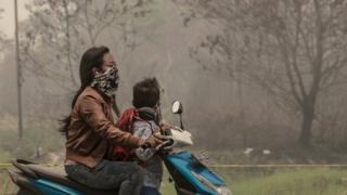 Polusi udara di Palangkaraya 20 kali di atas ambang normal.