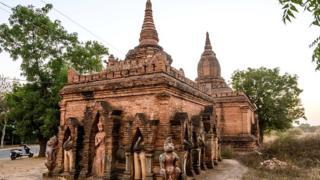 Bagan'da bir Budist tapınağı