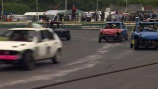 Cars at Grimley Oval Raceway