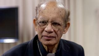Cardinal Oswald Gracias, Archbishop of Bombay, during the launch of the bishops' declaration on climate justice on 26 October 2018 in Rome, Italy.