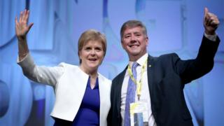 Nicola Sturgeon and Keith Brown
