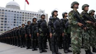 新疆的武警