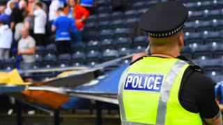 Police at Rugby Park