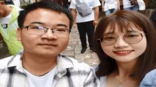 A still from the couple's video