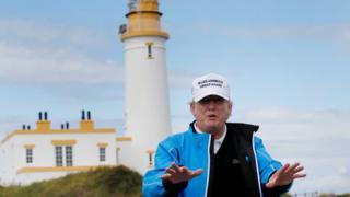 Donald Trump in Scotland in