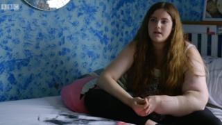 Leah Hardcastle a los 14 años