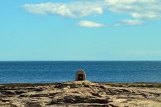 Coastline in Northumberland.