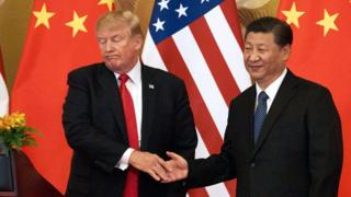 President Donald Trump and Chinese President Xi Jining