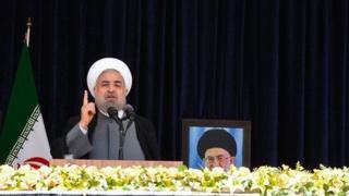 """حسن روحانی گفته """"آمریکا می گوید ایران امروز به ایران سال ۵۶ و اوایل ۵۷ تبدیل شود"""""""