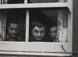 Milly, John and Jean Paul MacLellan, South Uist, Hebrides, 1954