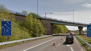 M61 link road to A580