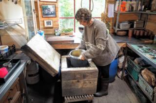 Джен с плитой на компосте