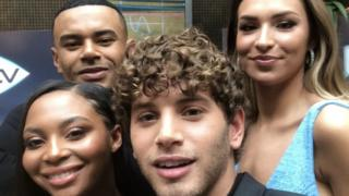 Samira, Wes, Eyal and Zara at the premiere