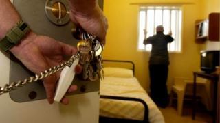 Prisoner being locked up