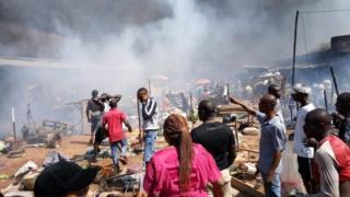 "Onitsha: Buhari sad, Nigerians say ""We dey on awa own"" ontop Ochanja market fire inside Anambra"