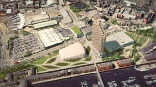 Swansea St David's development artist impression