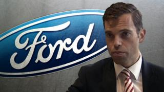 Ken Skates and Ford logo