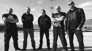 Five members of Infernal War standing in a line