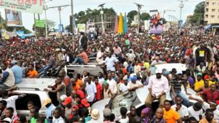 Manifestation de l'opposition à Conakry, le 4 octobre 2017 (illustration).