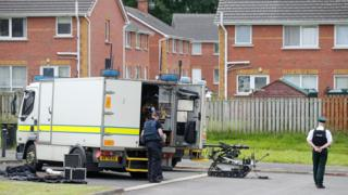 Army technical officers were called to examine the object