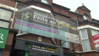 Féile an Phobail offices in west Belfast