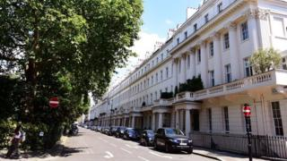 Eaton Square, the most expensive street to own a home in England and Wales