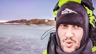 Pradeen Tomar in Antarctica