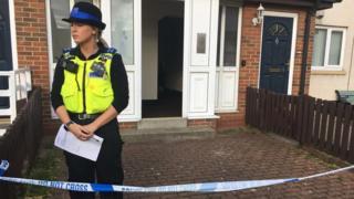 Police at an address near Wallsend